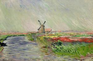 Tulip Field in Holland by Claude Monet