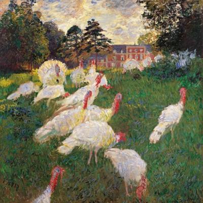 Turkeys by Claude Monet