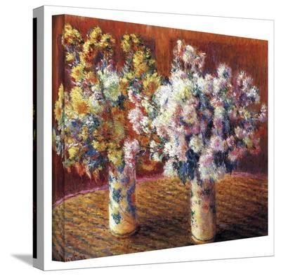 Claude Monet 'Two Vases' Wrapped Canvas Art-Claude Monet-Gallery Wrapped Canvas