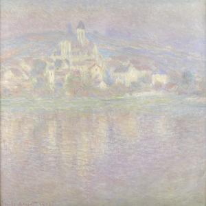 Vétheuil Bei Sonnenuntergang Wahrscheinlich 1900 by Claude Monet