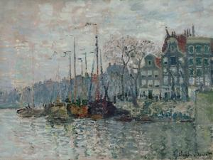 View of the Prins Hendrikkade and the Kromme Waal in Amsterdam, 1874 by Claude Monet
