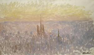 Vue générale de Rouen by Claude Monet