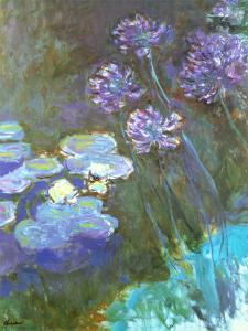 Water Lilies and Agapanthus by Claude Monet