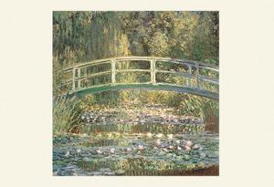 Waterlilies and Japanese Bridge by Claude Monet