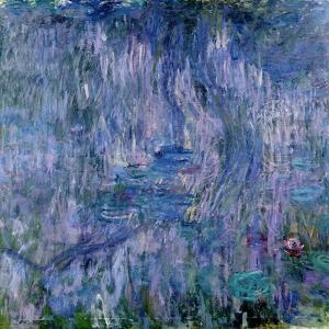 Waterlilies and Reflections of a Willow Tree, 1916-19 by Claude Monet