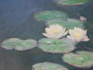 Waterlilies, Evening; Detail by Claude Monet