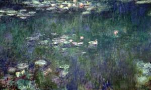 Waterlilies: Green Reflections, 1914-18 (Central Section) by Claude Monet