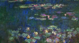 Waterlilies, Green Reflections, 1914-1918 by Claude Monet