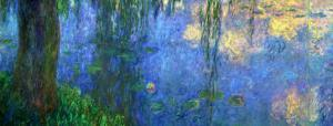 Waterlilies, Morning with Willows by Claude Monet