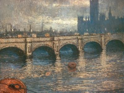 Westminster Bridge and the Houses of Parliament in London, 1900-04 by Claude Monet