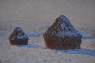 Wheatstacks, Snow Effect, Morning, 1891 by Claude Monet