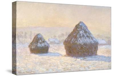 Wheatstaks, Snow Effect, Morning, 1891