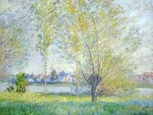Willows at Vetheuil, 1880 by Claude Monet
