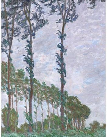 Wind Effect, from the Poplars Series by Claude Monet by Claude Monet