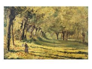 Woman in the Forest by Claude Monet