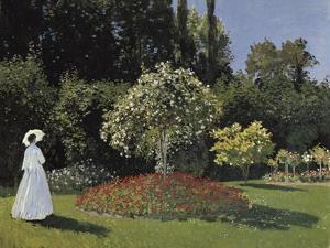 Woman in the Garden by Claude Monet