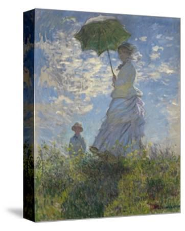 Woman with a Parasol-Madame Monet and Her Son, 1875