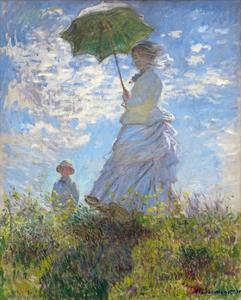 Woman with a Parasol - Madame Monet and Her Son by Claude Monet by Claude Monet
