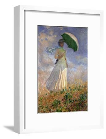 Woman with an Umbrella Turned to the Right