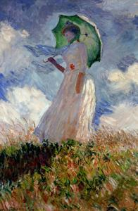 Woman with Umbrella Turned Towards the Left, 1886 by Claude Monet