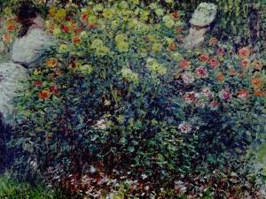 Women Amidst Flowers, 1875 by Claude Monet
