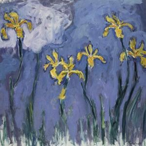 Yellow Lilies and Rose Cloud, C. 1918 by Claude Monet