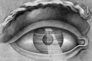Eye Enclosing the Theatre at Besancon, France, 1847 by Claude Nicolas Ledoux