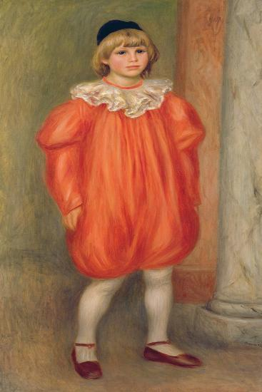 Claude Renoir in a Clown Costume, 1909-Pierre-Auguste Renoir-Giclee Print