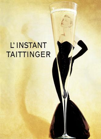 L'Instant Taittinger (The Taittinger Moment) - Champagne Advertisement - Grace Kelly by Claude Taittinger