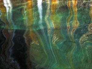 Stained Rock Underwater, Pictured Rocks National Lakeshore, Michigan, USA by Claudia Adams