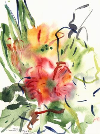 Primroses, 2005 by Claudia Hutchins-Puechavy