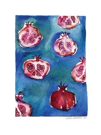 Pattern_pomegranate by Claudia Libenberg