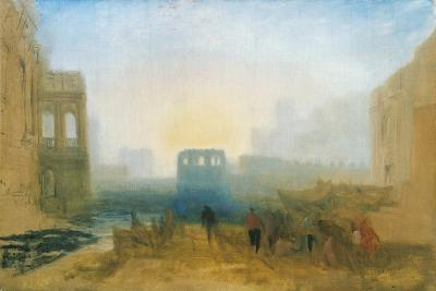 Claudian Harbour Scene: Study for 'Dido Directing the Equipment of the Fleet'-J^ M^ W^ Turner-Giclee Print