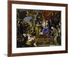 La Virgen Con El Niño Entre Las Virtudes Teologales Y Santos, 1669 by Claudio Coello