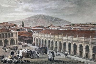Gran Palacio de Santiago de Chile Antes de La Independencia Del País