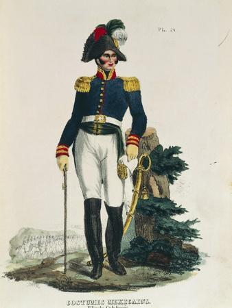 Uniform of Cavalry General Stationed in Mexico City