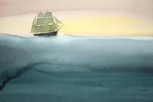 Ship in Calm Sea by Claus Hoie