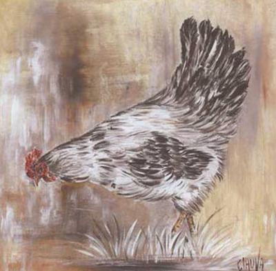 Poule Blanche by Clauva