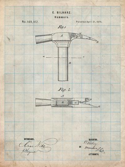 Claw Hammer 1874 Patent-Cole Borders-Art Print