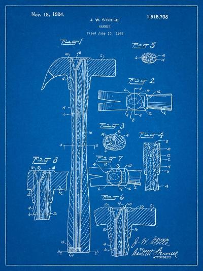 Claw Hammer Patent-Cole Borders-Art Print