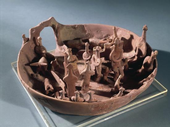 Clay Manufacture Representing Sacred Pit, from Vounous--Giclee Print