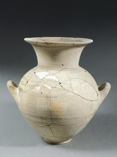 Clay Two-Handled Amphora, Italy, 8th Century BC--Giclee Print