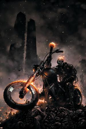 Ghost Rider No.6 Cover: Ghost Rider by Clayton Crain