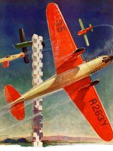 """Airshow,""September 4, 1937 by Clayton Knight"
