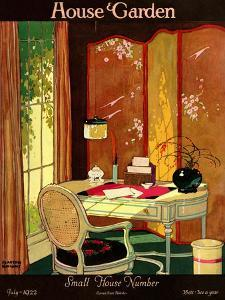 House & Garden Cover - July 1922 by Clayton Knight