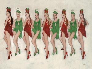 9 Ladies Dancing II by Clayton Rabo
