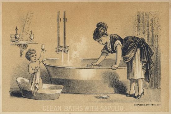 Clean Baths with Sapolio--Giclee Print