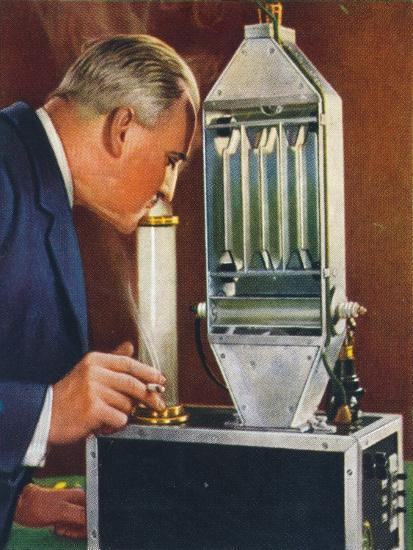 Cleaning air by electricity, 1938-Unknown-Giclee Print