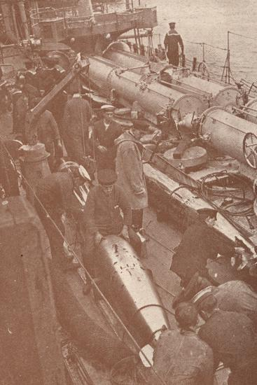 Cleaning and adjusting torpedoes, c1917 (1919)-Unknown-Photographic Print