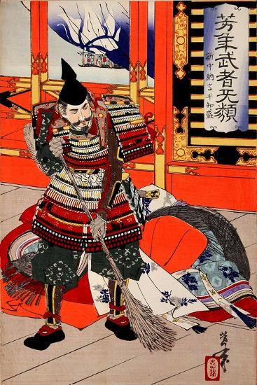 Cleaning Deck, from the Series Yoshitoshi's Incomparable Warriors-Yoshitoshi Tsukioka-Giclee Print